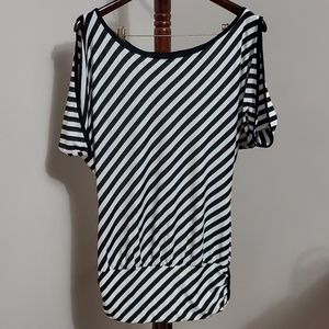 Guess Jeans Striped Flowy Top